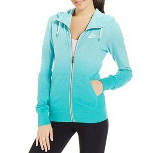 Nike Long Sleeve Ombre Gym Hoodie Sweater Medium